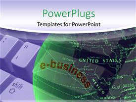 PowerPlugs: PowerPoint template with green earth globe over computer keyboard with white frame