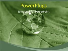 PowerPlugs: PowerPoint template with green earth over the green leave