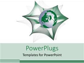 PowerPoint template displaying a green globe with white background