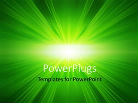 PowerPlugs: PowerPoint template with green glowing background with zooming effect