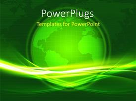 PowerPlugs: PowerPoint template with green glowing earth globe over world map in background