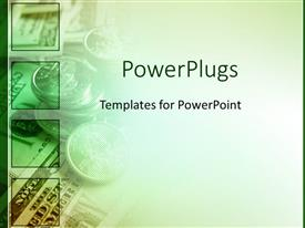 PowerPlugs: PowerPoint template with green money for finances as a metaphor on a fading white background