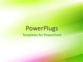 PowerPoint template displaying green motion blur abstract background, digitally generated
