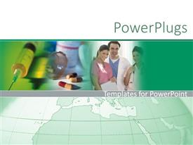 PowerPlugs: PowerPoint template with agreen shinning mouse on a green plain surface