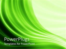 PowerPlugs: PowerPoint template with green wave like lines with different shades of green