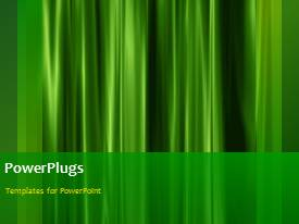 PowerPlugs: PowerPoint template with a greenish background with a bullet point