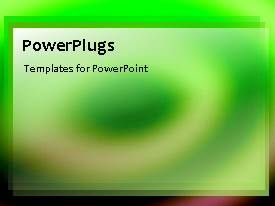 PowerPoint template displaying a greenish background with a bullet point
