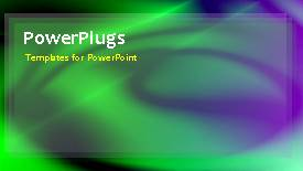 PowerPoint template displaying a greenish background with a bullet point - widescreen format