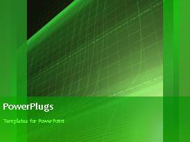PowerPlugs: PowerPoint template with a greenish background with a bullet point and place for text