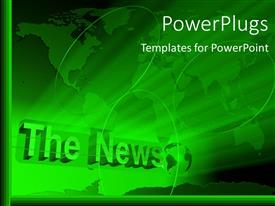 PowerPlugs: PowerPoint template with a greenish background with a map