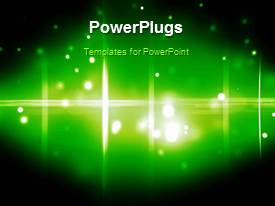 PowerPlugs: PowerPoint template with a greenish background with a number of circles