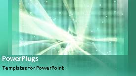 PowerPoint template displaying a greenish background with a number of dots - widescreen format