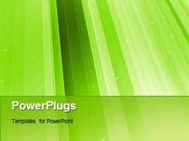 PowerPlugs: PowerPoint template with a greenish background with a number of lines