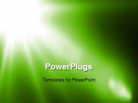 Audience pleasing PowerPoint featuring a greenish background with a place for text
