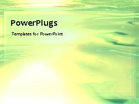 PowerPlugs: PowerPoint template with a greenish background with place for text