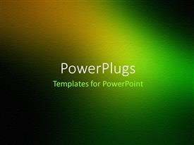 PowerPoint template displaying a greenish background with a place for text