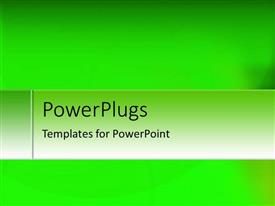 PowerPoint template displaying a greenish background with place for text in front