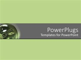 PowerPlugs: PowerPoint template with a greenish background with place for text in middle