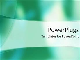 PowerPoint template displaying a greenish background with place for text in middle