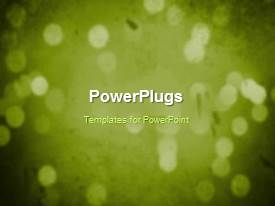 PowerPlugs: PowerPoint template with a greenish background with a sentence
