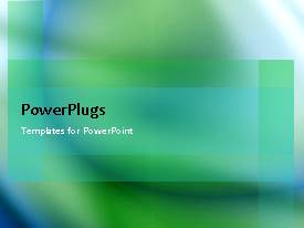 PowerPlugs: PowerPoint template with a greenish background with a white shade
