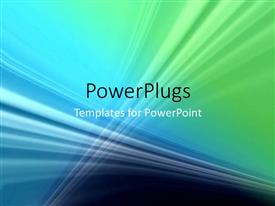 PowerPlugs: PowerPoint template with a greenish and bluish background with place for text
