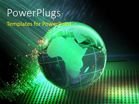 PowerPlugs: PowerPoint template with a greenish globe with various colored background