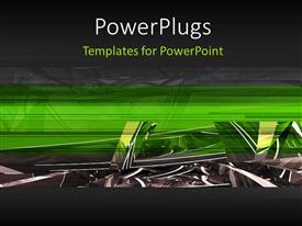 PowerPlugs: PowerPoint template with a greenish and grayish background with place for text