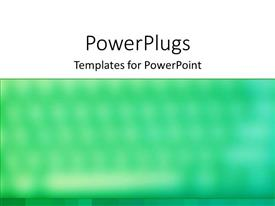 PowerPoint template displaying a greenish and white background with a place for text