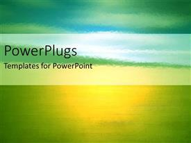 PowerPlugs: PowerPoint template with a greenish and yellowish background with place for text