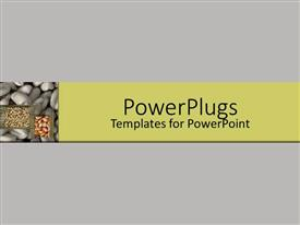 PowerPlugs: PowerPoint template with grey background with different seeds and grains collection on the side