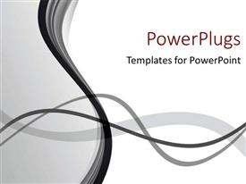 PowerPoint template displaying grey waves background