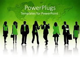 PowerPlugs: PowerPoint template with a group of business related people enjoying their day