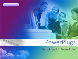 PowerPlugs: PowerPoint template with group of colleagues working together on project
