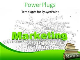 PowerPlugs: PowerPoint template with group of marketing related keywords and marketing books