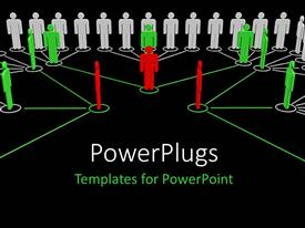 PowerPlugs: PowerPoint template with a group of people connected together