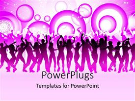 PowerPlugs: PowerPoint template with a group of people dancing together