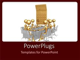 PowerPlugs: PowerPoint template with a group of people in a meeting related to finance