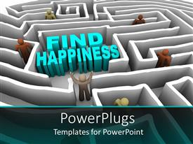 PowerPlugs: PowerPoint template with a group of people searching for the happiness in a puzzle
