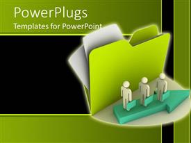 PowerPlugs: PowerPoint template with a group of people standing together in a line
