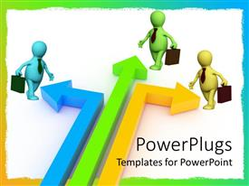 PowerPlugs: PowerPoint template with a group of professionals going to do their job