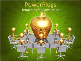 PowerPlugs: PowerPoint template with a group of professionals in a meeting