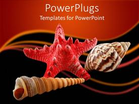PowerPlugs: PowerPoint template with a group of sea animals together