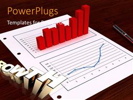 PowerPlugs: PowerPoint template with a financial report with a growrh graph