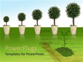 PowerPlugs: PowerPoint template with growing tress and plants is good for environment and human