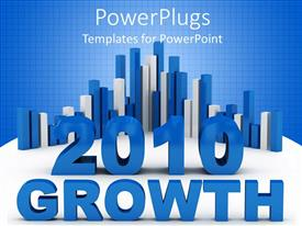 PowerPlugs: PowerPoint template with growth chart over background of blue and white