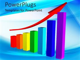 PowerPlugs: PowerPoint template with a growth table with bluish background