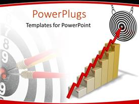 PowerPlugs: PowerPoint template with a growth table with a dartboard