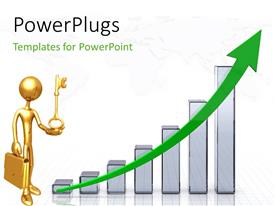 PowerPlugs: PowerPoint template with a growth table with a professional