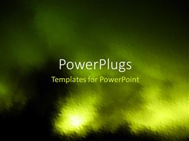 PowerPoint template displaying grunge painting depicting light glow in sky